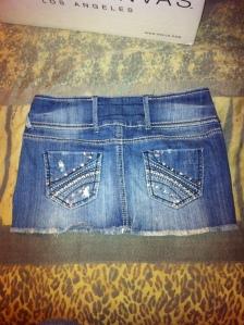 jean skirt back