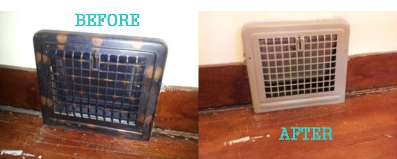 before and after heat vents