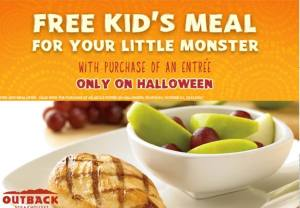 outback free kids meal