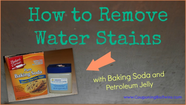 remove water stains